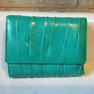 Hobo International Teal Leather Wallet Clutch
